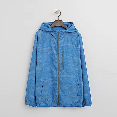 Hang Ten - 男裝 - Thermo Contro迷彩機能外套-藍色