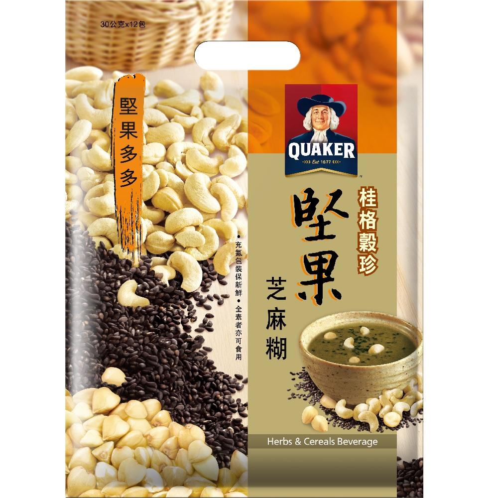 桂格 堅果芝麻糊穀珍(30gx12包入)