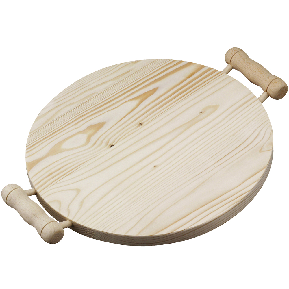 EXCELSA Realwood雙柄杉木砧板(圓35cm)