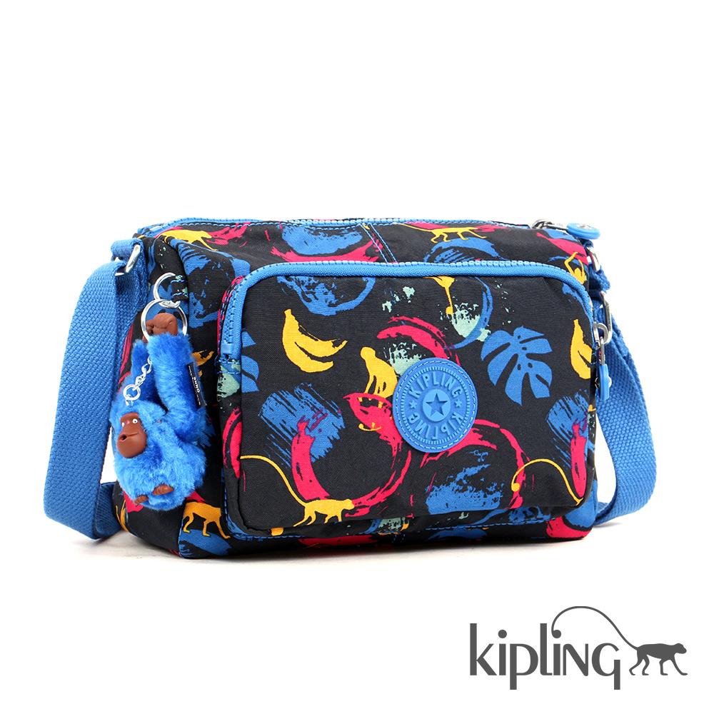 Kipling 斜背包 繽紛塗鴉印花