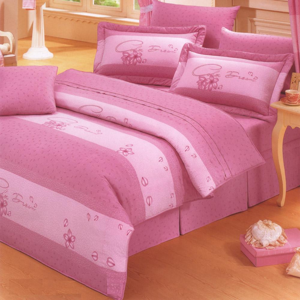 艾莉絲-貝倫 醉夢天地 100%純棉 單人鋪棉兩用被床包三件組