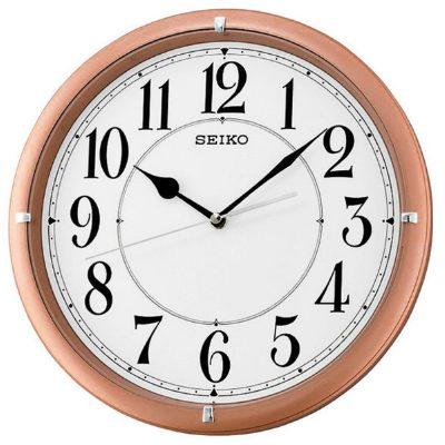 SEIKO 精工 滑動式秒針 靜音掛鐘(QXA637P)-粉-白/31cm