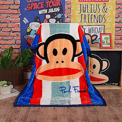 Paul Frank 紳士守則 頂級加厚法蘭絨休閒毯