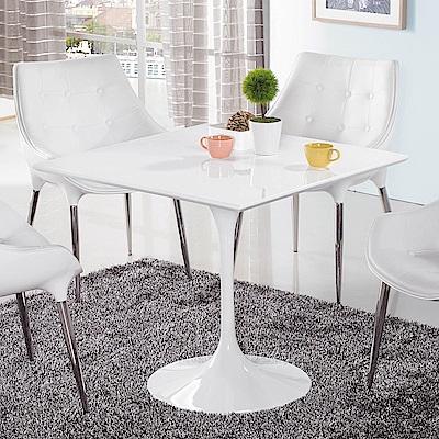 H&D 塑鋼造型方桌 (寬80X深80X高72cm)