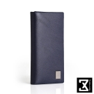 74盎司 Cross 十字紋真皮長夾(零錢袋)[N-554]深藍