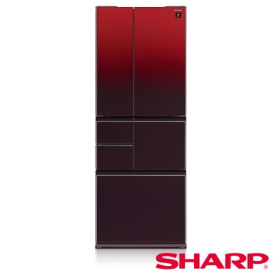 SHARP夏普501L極鮮大冷凍庫變頻六門冰箱 SJ-GT50BT-R 星鑽紅/日本製