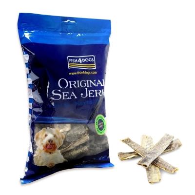 【海洋之星Fish4Dogs營養潔齒點心】魚皮薄片、500g、適合一般犬隻食用
