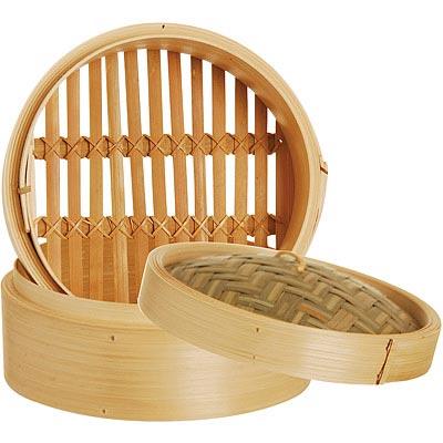 EXCELSA Asia雙層竹編蒸籠(18cm)