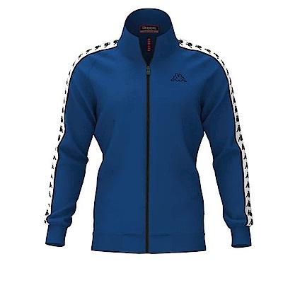 KAPPA義大利時尚男慢跑運動外套(合身版)-寶藍