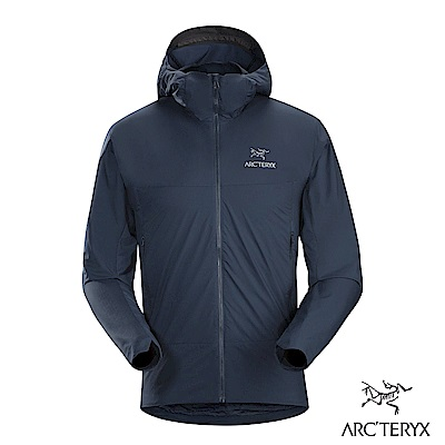 Arcteryx 男 Atom SL 化纖保暖連帽外套 夜景藍