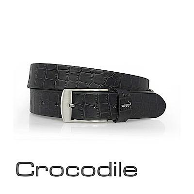 Crocodile 經典鱷魚壓紋休閒皮帶 0102-20181