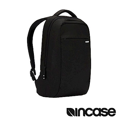 INCASE ICON Lite 格紋耐磨電腦後背包(晶鑽黑/15 吋筆電適用)