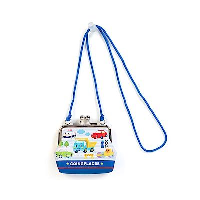 Sanrio 汽車宇宙童用PU皮革珠扣式零錢包附頸掛繩