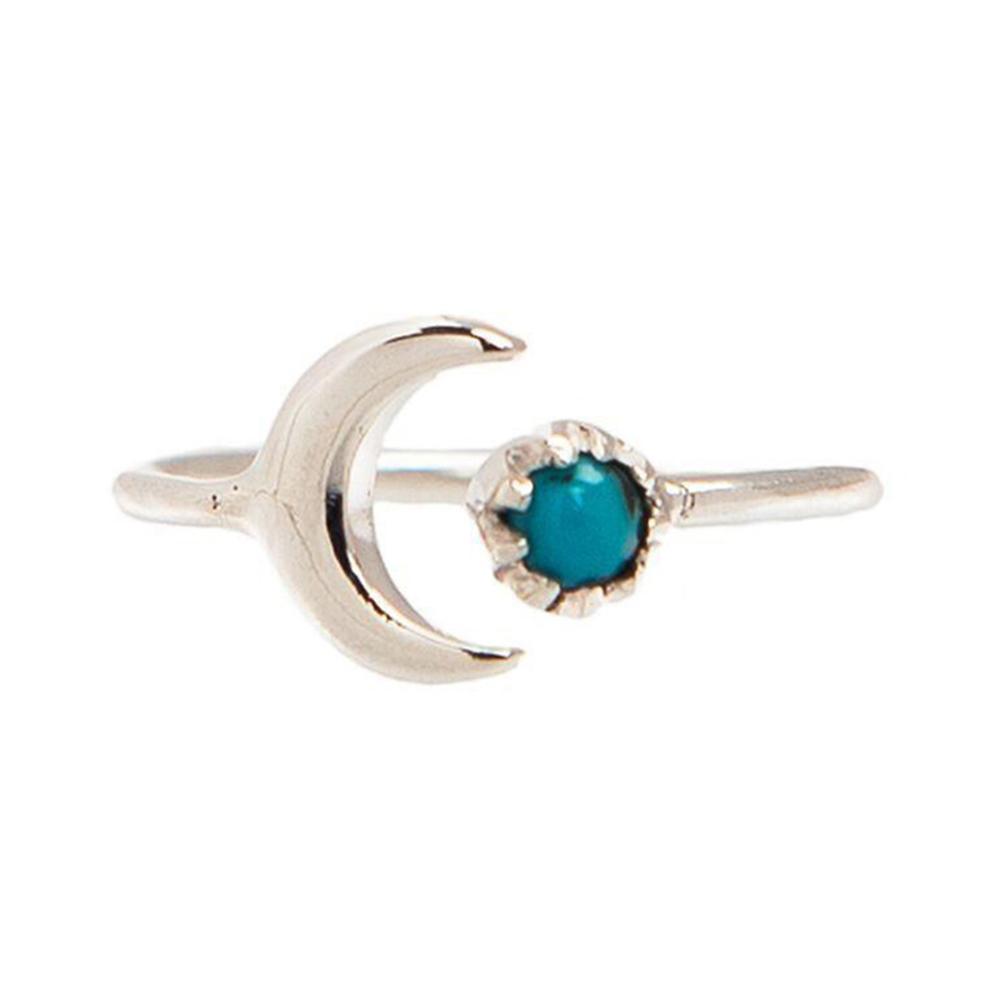 Pura Vida 美國手工 月亮天體造型 純銀戒指