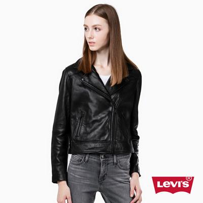羊皮皮衣外套-率性酷黑-Levis