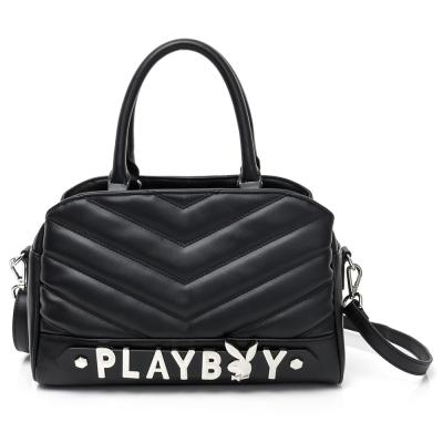 PLAYBOY- 2WAY手提包 山形小兔系列-摩登黑