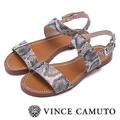 Vince Camuto 渡假休閒素色一字平底涼鞋-蛇紋