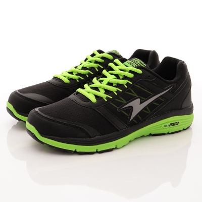 ARNOR-超Q彈氣墊跑鞋款-SE3255黑科技綠(男段)