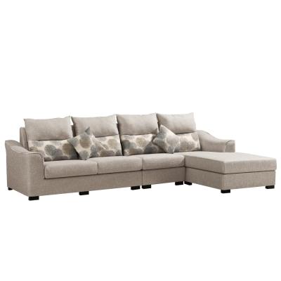 L型沙發 奈德布面獨立筒沙發 左右可選  品家居