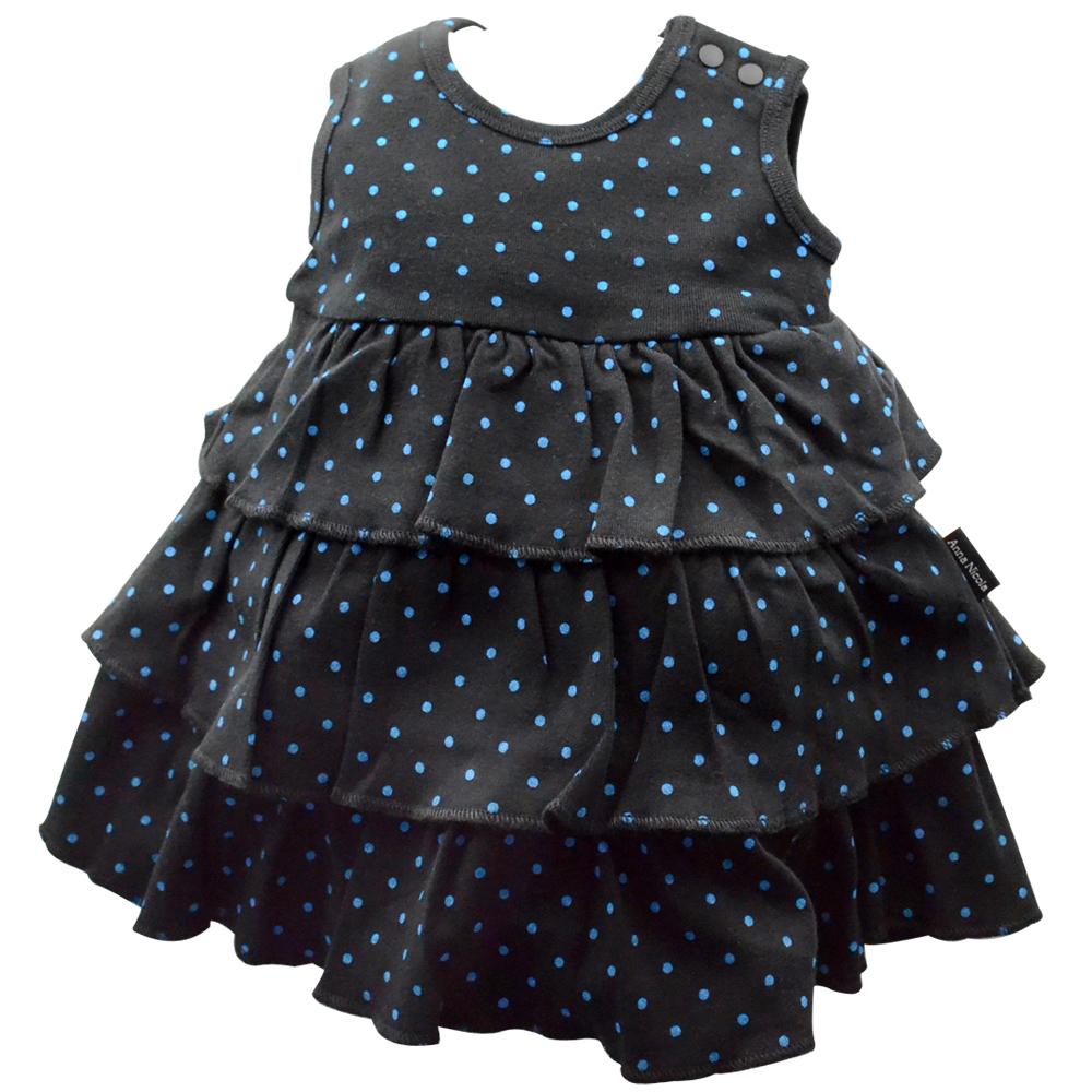 Anna Nicola-日本製-點點包屁蛋糕洋裝(黑)