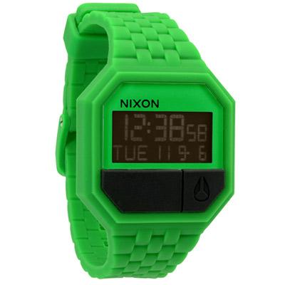 NIXON The RUBBER RE-RUN色彩玩家時尚運動腕錶-青草綠/38mm