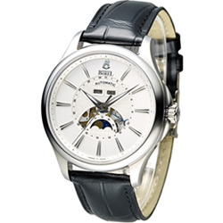 Ernest Borel 依波路 公爵月相顯示機械腕錶-白/41mm