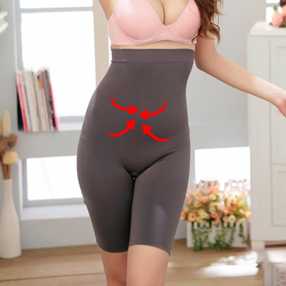 塑身褲 3S美體無縫超高腰收腹提臀褲M-XL (晶鑽灰)ThreeShape