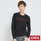EDWIN 繡花EDWIN長袖T恤-女-紅色