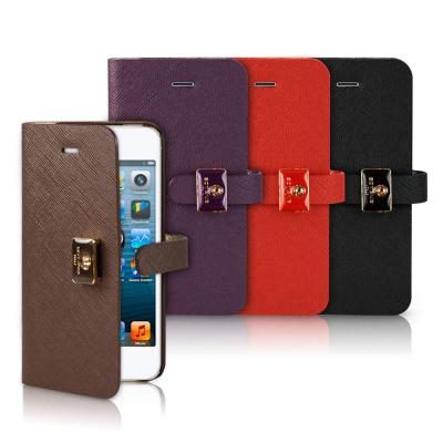 SOTANIA iPhone 5/5S/SE 扣環側開高級皮革保護套