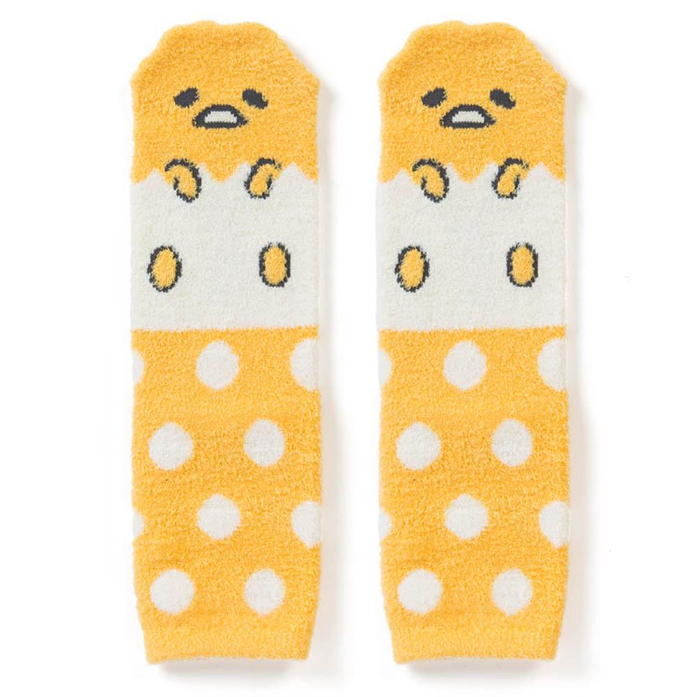 Sanrio 蛋黃哥盒裝Fluffy中筒保暖襪(點點蛋殼)