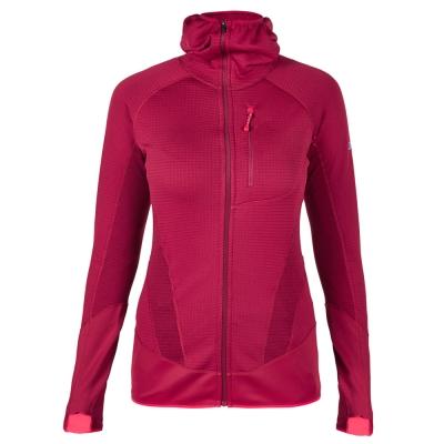 【Berghaus貝豪斯】女款POLARTEC銀離子保暖連帽外套H22F28-紅