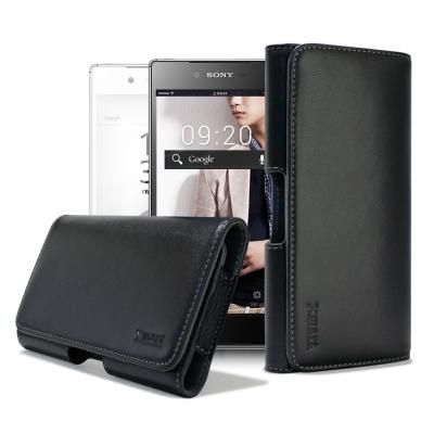 X mart SONY Z5 / Z5 Premium 型男羊皮橫式腰掛皮套