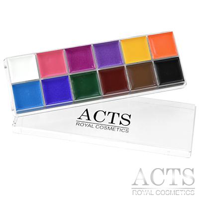 ACTS 維詩彩妝 12色專業彩繪油彩盤