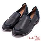 2.Maa-迷人簡約低跟舒適包鞋-深藍