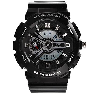 SKMEI 時刻美0929-雙機芯多功能防震防水電子錶 (2色任選)