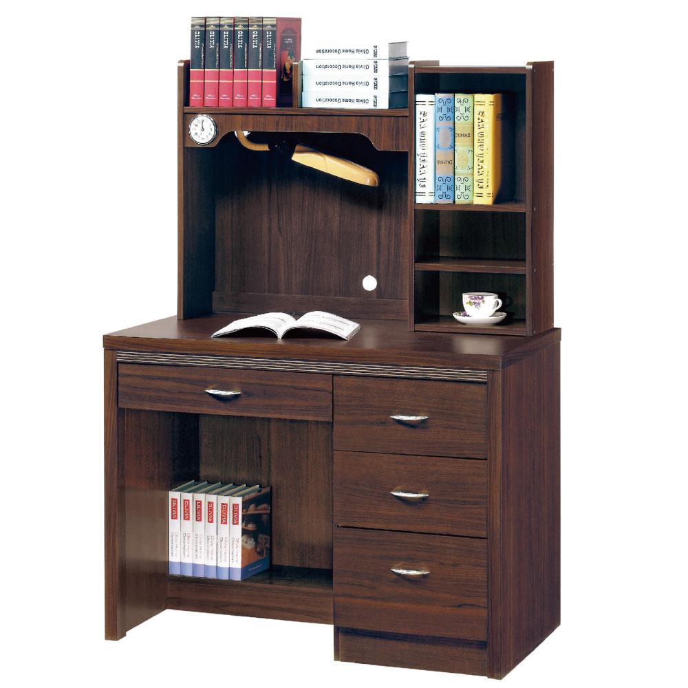 品家居 肯特3.5尺書桌/電腦桌組合-105x59.5x146.5cm-免組