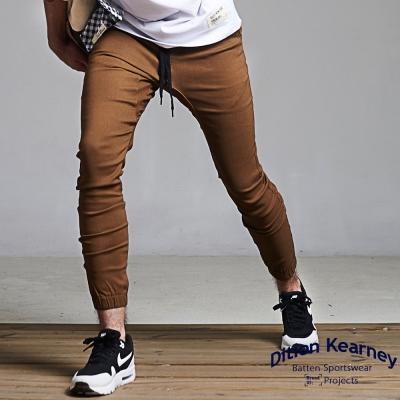 DITION 日系磨毛SLIM螺紋縮口褲 抽繩工作褲 貼腿款