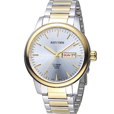 日本麗聲錶RHYTHM沈穩內斂品味紳士錶(GS1605S03)-42mm