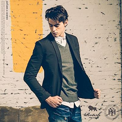 Roush 基本款V領素面針織衫 - 5色