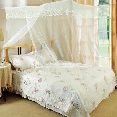棉花田 艾莉絲雙人刺繡蚊帳-米色(150x180cm)