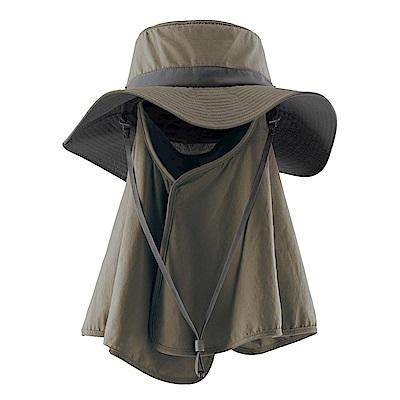 【Wildland 荒野】中性抗UV調節式遮陽帽灰