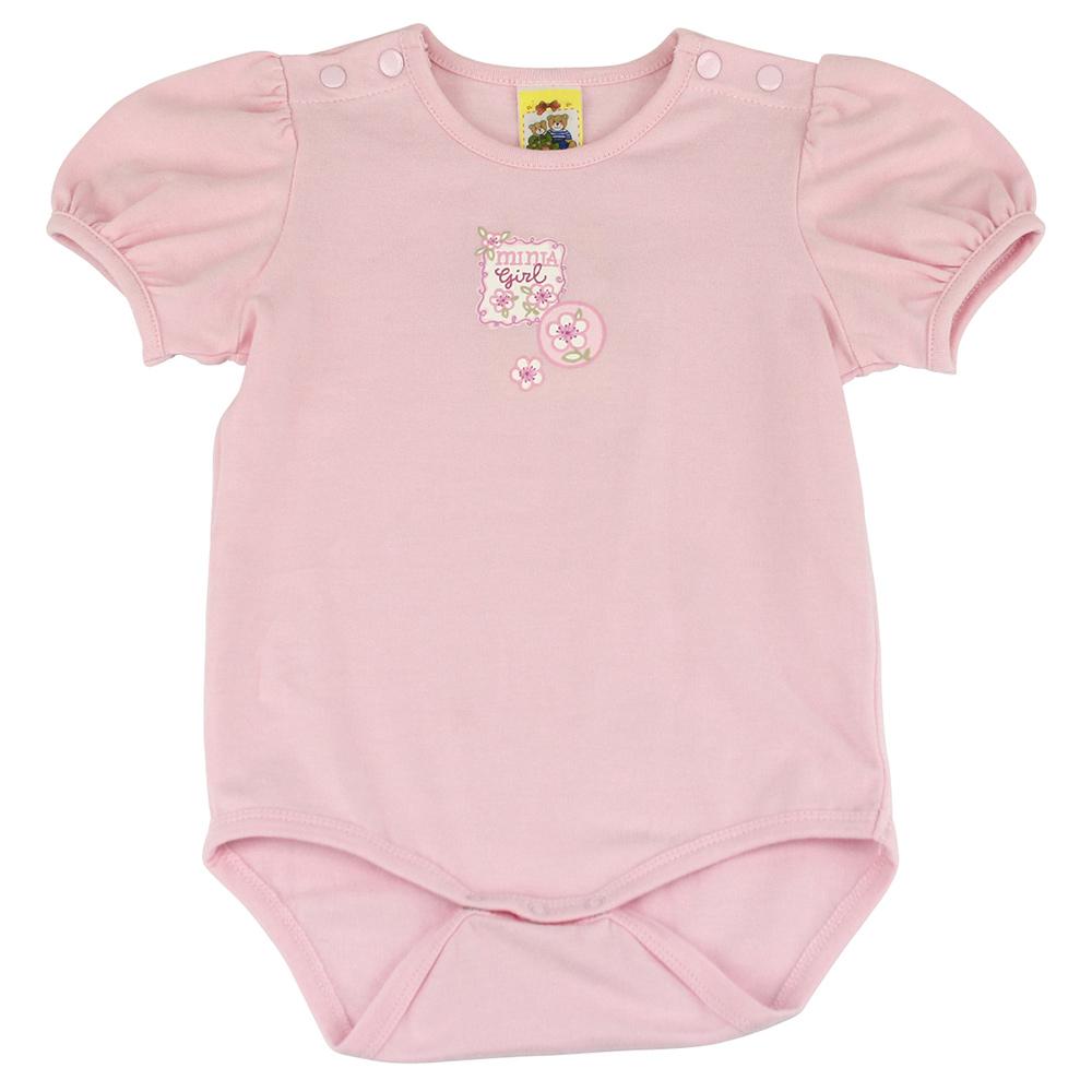 愛的世界 MYBABY 櫻花彈性包屁連身衣/6個月~2歲