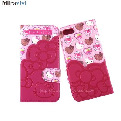 Sanrio三麗鷗iPhone 8/7(4.7吋)口袋拼接彩繪皮革筆記本式皮套