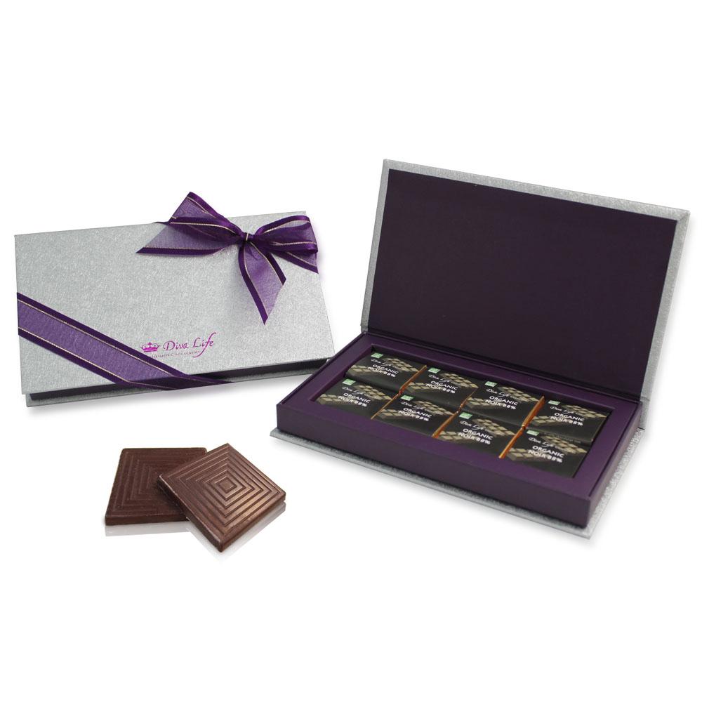 Diva Life 經典比利時純巧克力片(16入)禮盒