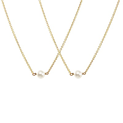 Dogeared 母女金色珍珠項鍊