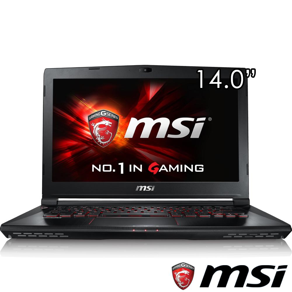 MSI微星 GS40-010 14吋電競筆電(i7-6700/GTX970/128G+1T/8G