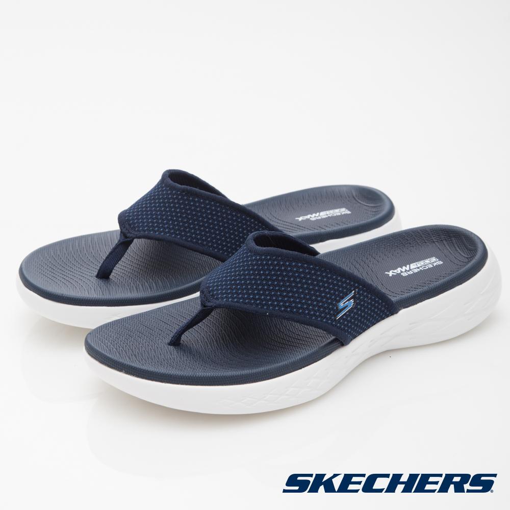 SKECHERS(男)休閒系列ON THE GO CITY600拖鞋-55350NVY
