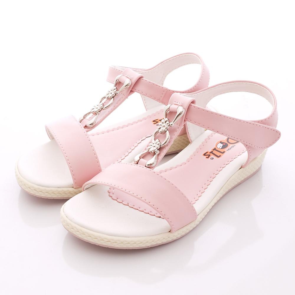 日本娃娃-花朵扣飾涼鞋款-6685粉(中大童段)HN