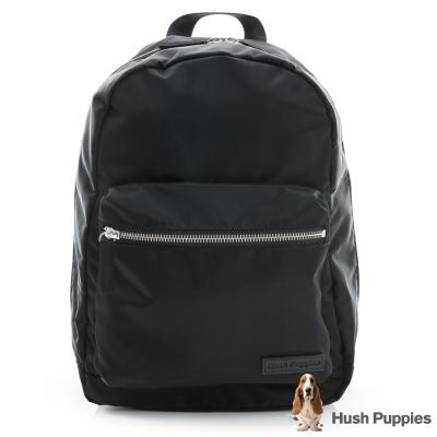 Hush Puppies 韓版休閒小後背包-黑色