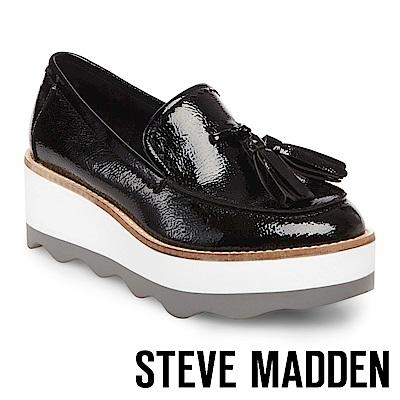 STEVE MADDEN-TREAD 流蘇厚底鞋-黑色